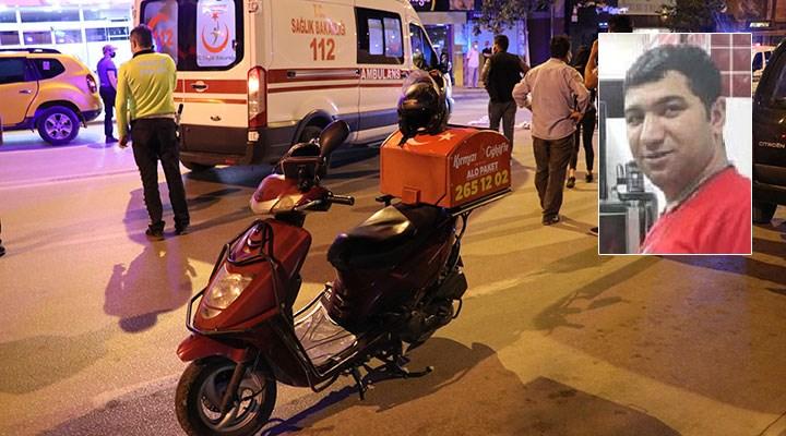 Moto kurye Bayram Kurt, trafik kazasında yaşamını yitirdi