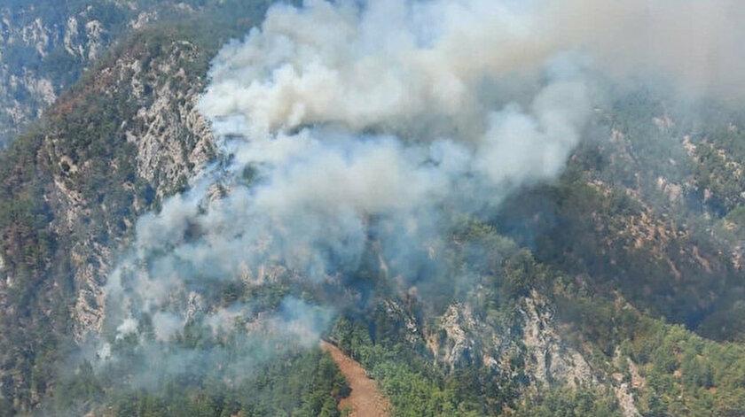 Muğla Köyceğiz'de orman yangını başladı