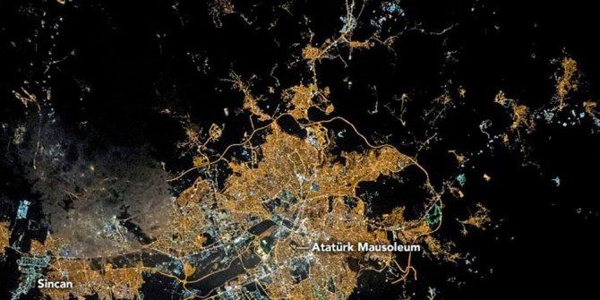 NASA'dan günün fotoğrafı: Ankara gecesi