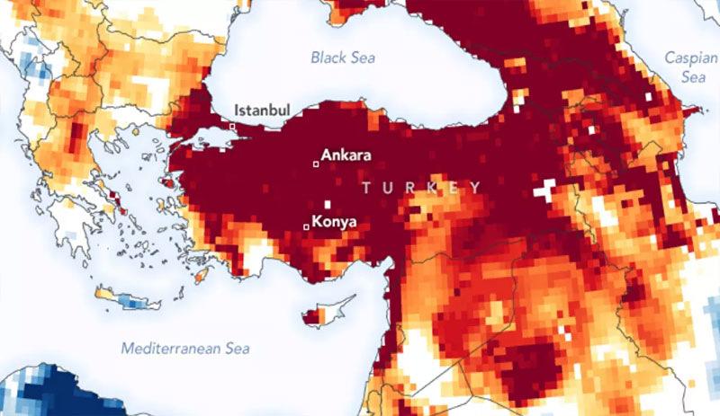 NASA'dan Türkiye'ye kuraklık uyarısı