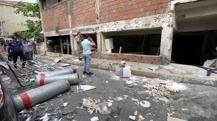 Okmeydanı'nda iş yerinde patlama