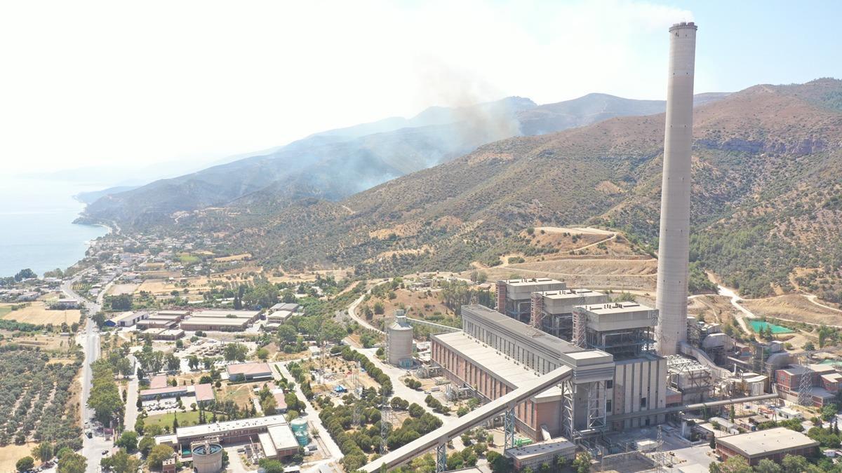 Kemerköy Termik santralindeki yangın söndü