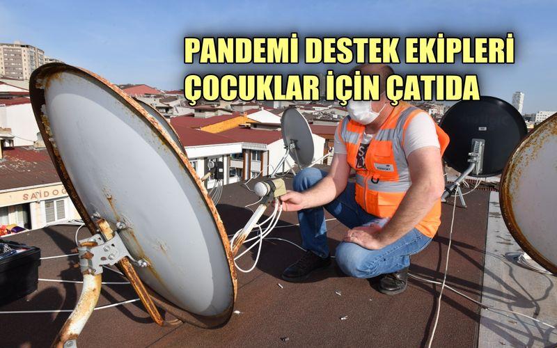Pandemi destek ekibi, çocuklar için çatıda