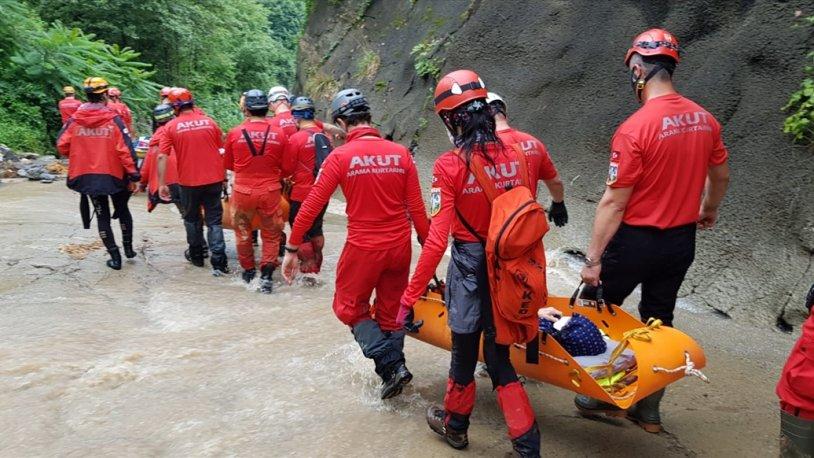 Rize'deki selin ardından tahliye çalışmaları devam ediyor