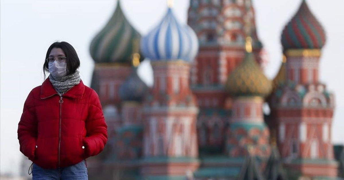 Rusya'da haziran başından beri açıklanan en düşük vaka sayısı