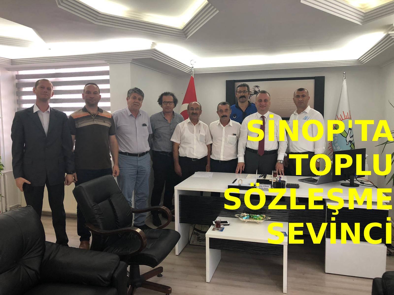 Sinop'ta toplu sözleşme sevinci