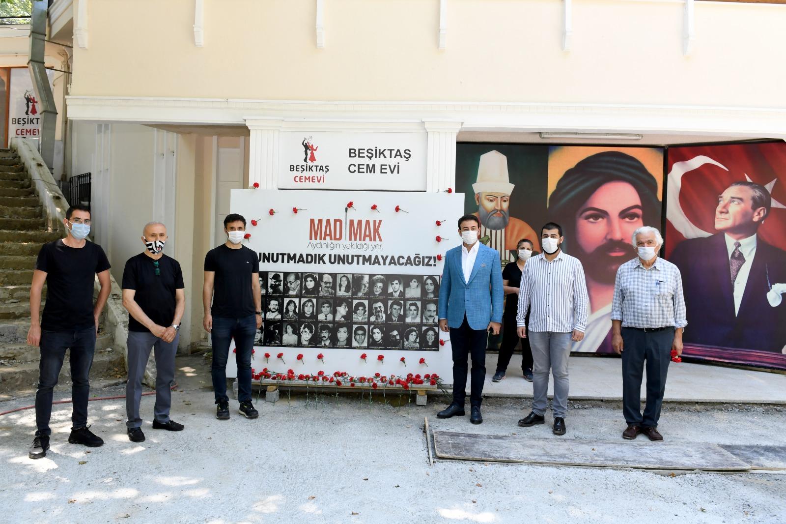 Sivas katliamı Beşiktaş'ta anıldı