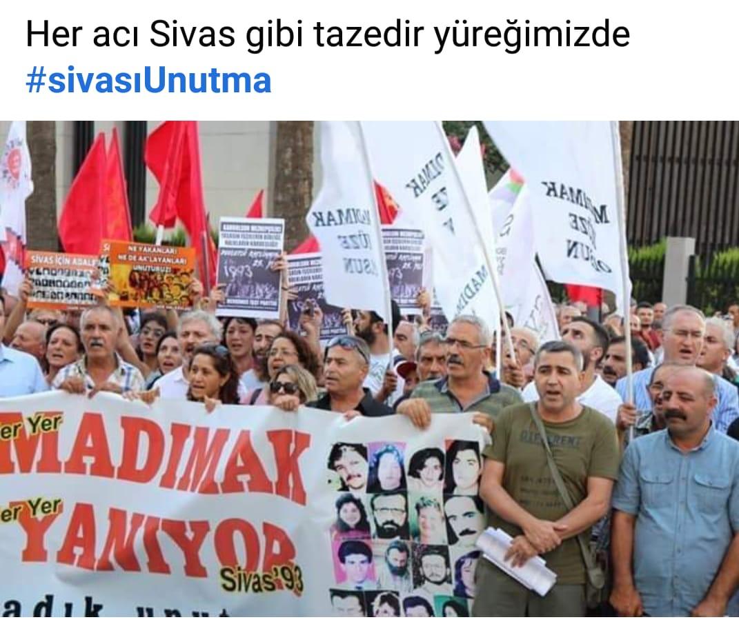 Sivas katliamı İzmir'de anıldı