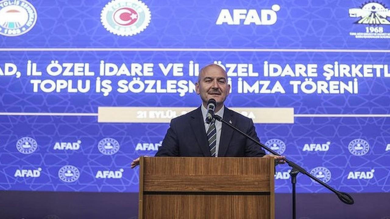 Soylu: Türkiye afet yönetiminde AFAD Başkanlığı eliyle çağ atlamıştır