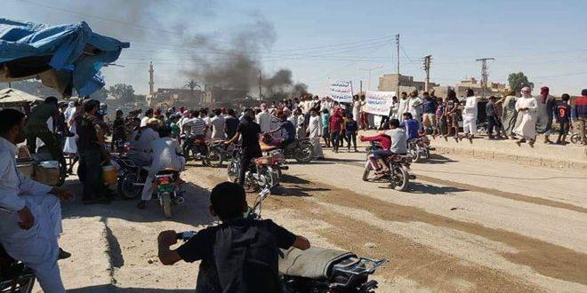 Suriye'de PKK karşıtı gösteri düzenlendi