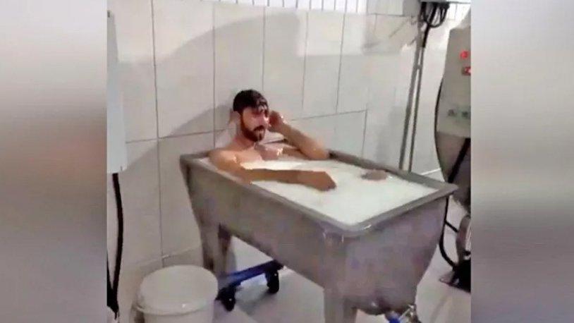 Süt fabrikasında banyo yapanların ifadesi ortaya çıktı