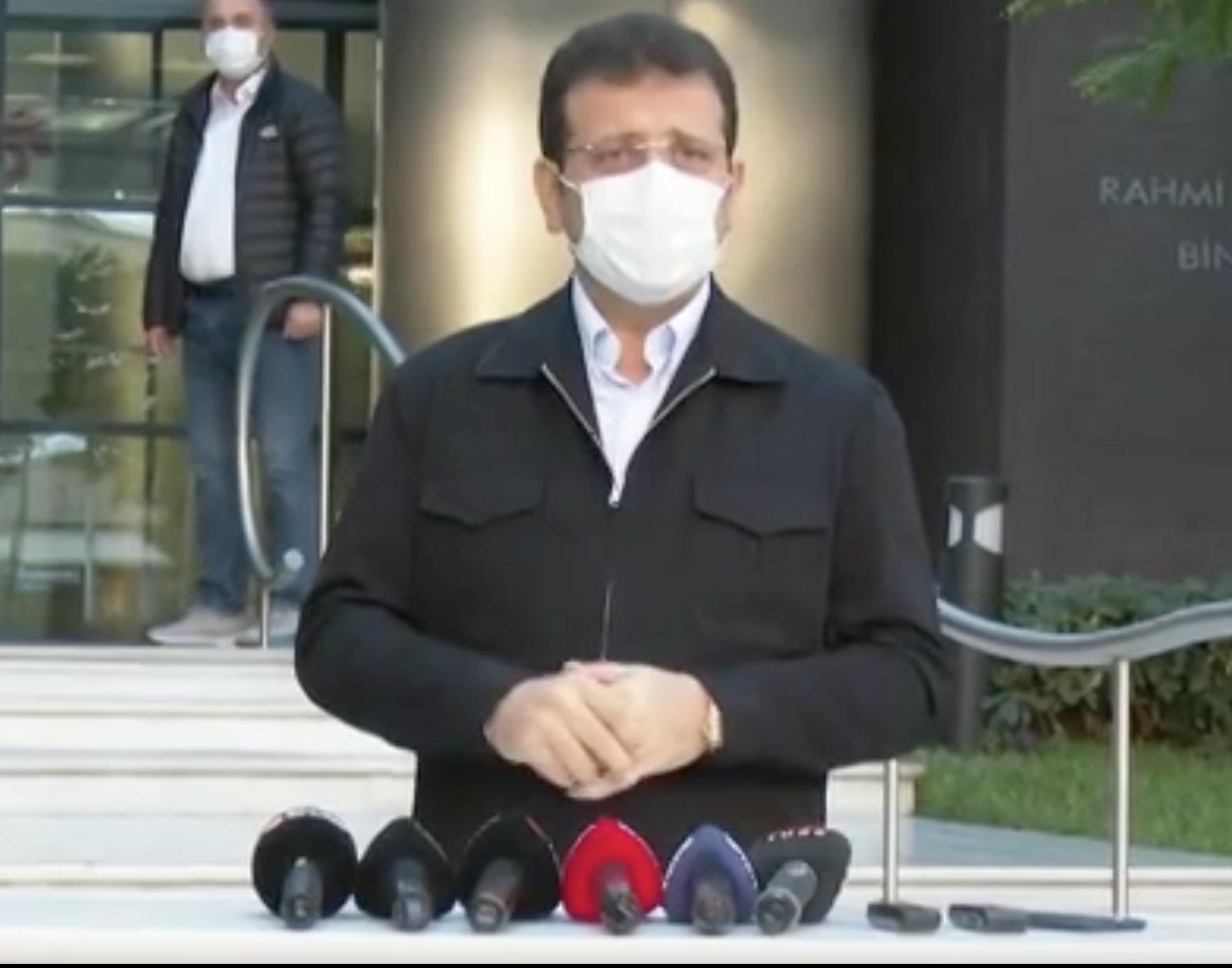 Taburcu olan Ekrem İmamoğlu: Karantinam sona erdiğinde İzmir'e gideceğim