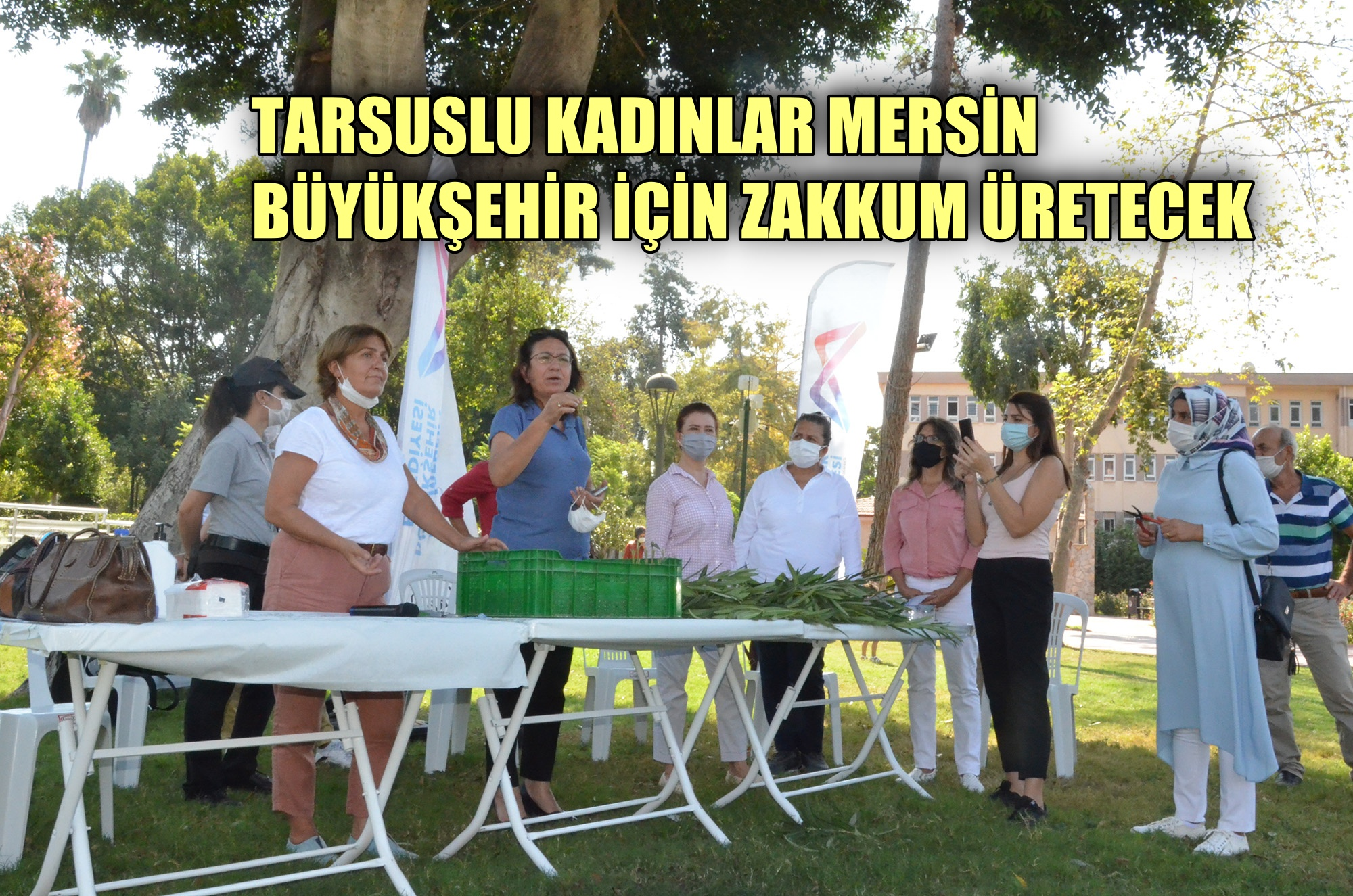 Tarsuslu kadınlar Mersin Büyükşehir için zakkum üretecek