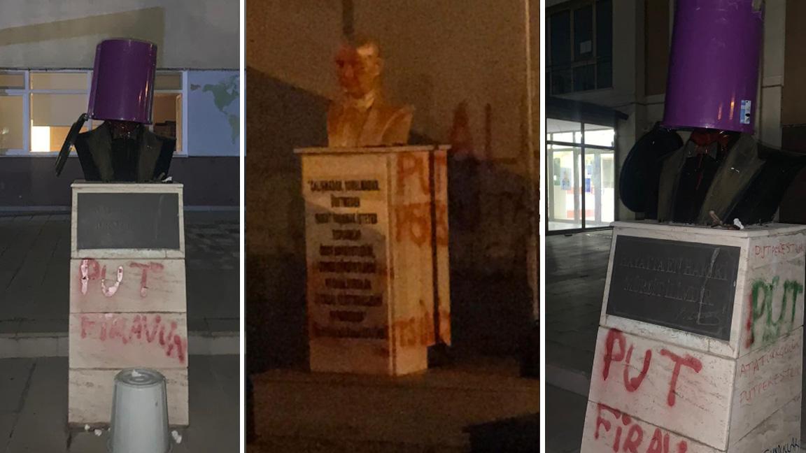 Tekirdağ'da 3 okulda Atatürk heykel ve büstlerine saldırı
