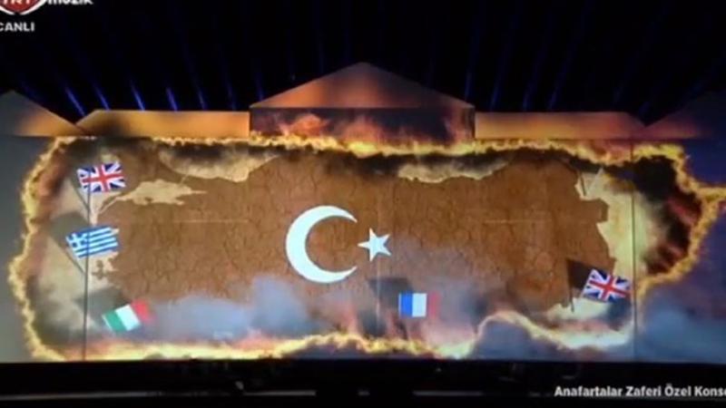 TRT'deki yanan Türk bayrağı görüntüsüne tepki