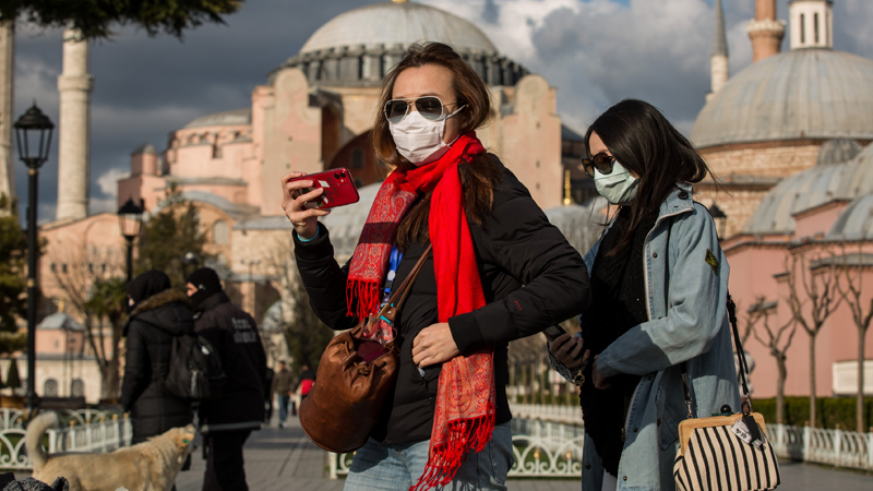 Turizm sayısı, yıllık yüzde 95 azaldı
