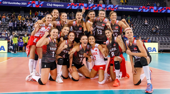 Türkiye A Milli Kadın Voleybol Takımı, Avrupa Şampiyonası'nda 5'te 5 yaptı