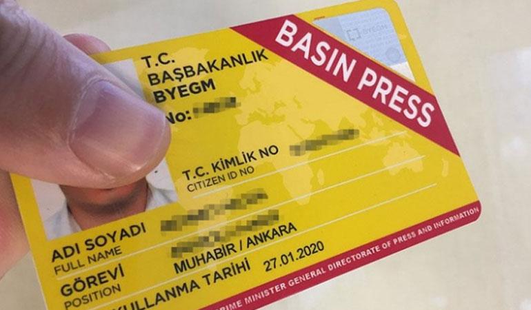 Türkiye'de basın kartı sahibi kaç gazeteci var?