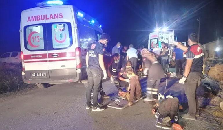 Van'da mültecileri taşıyan minibüs devrildi: 12 ölü