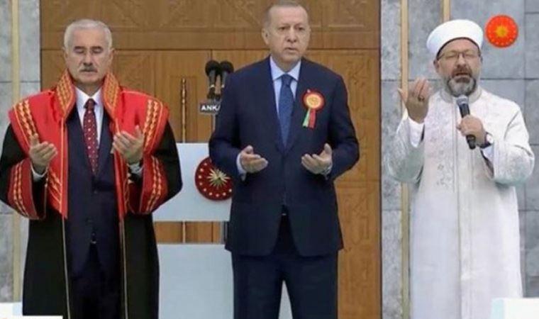 Yargıtay Başkanı Akarca yeni hizmet binasının açılışında cübbesi ile dua etti