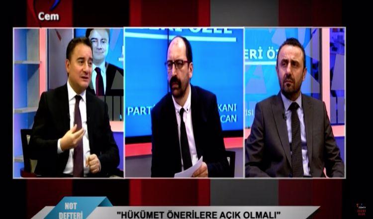 Deva Partisi Genel Başkanı Ali Babacan | Atakan Sönmez ile Not Defteri Özel